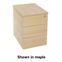Jemini Intro Desk High Pedestal D600 Beech