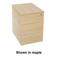 Jemini Intro Desk High Pedestal D600 Ferrera Oak
