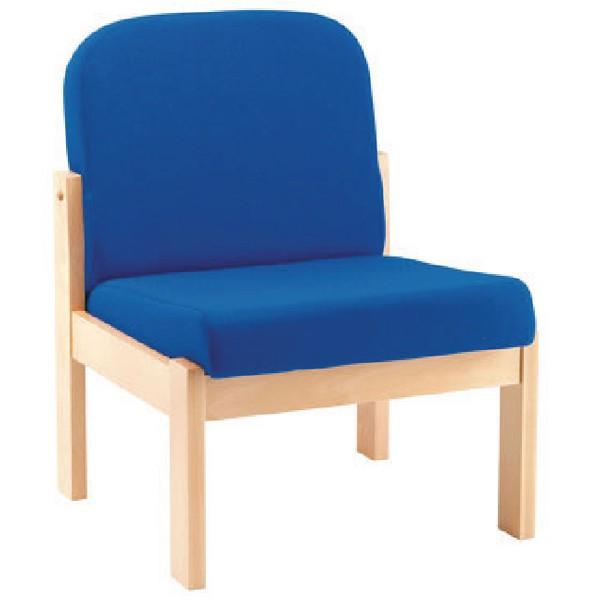 Arista Reception Seat Beech Veneer Frame Charcoal