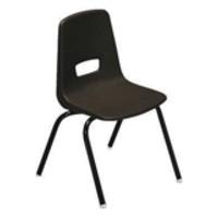 Jemini Polypropylene Stacking Chair Charcoal