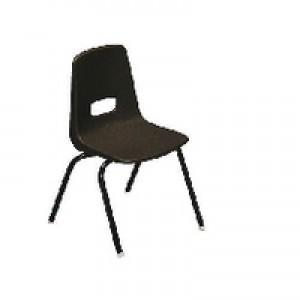 Jemini Polypropylene Stacking Chair Brown KF74962