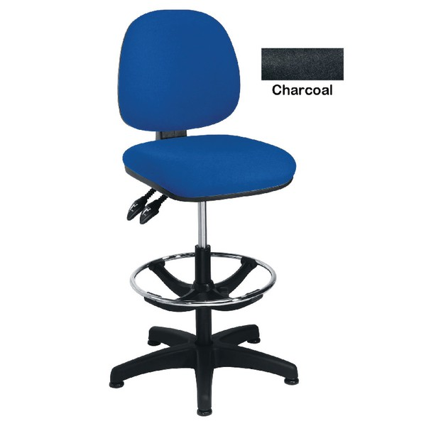 Arista Adjustable Draughtsman Chair Charcoal