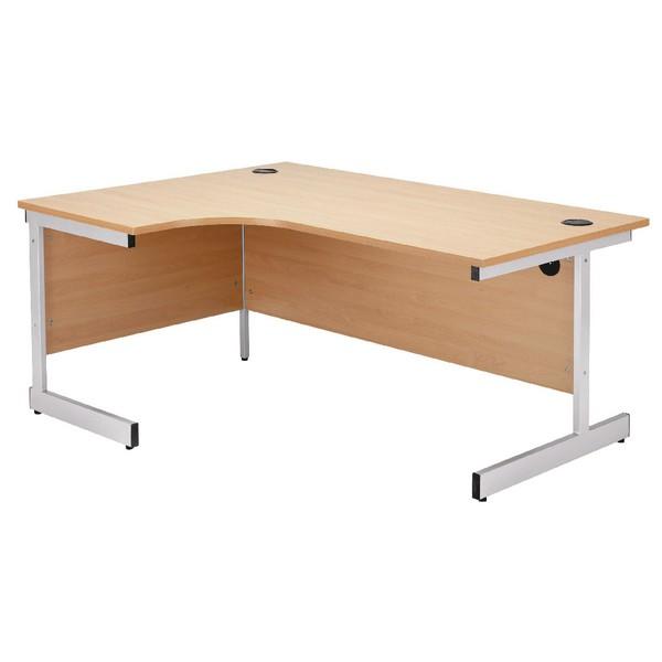 Jemini 1600mm Left-Hand Cantilever Radial Desk Beech