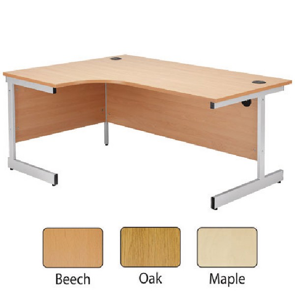 Jemini 1600mm Left-Hand Cantilever Radial Desk Oak