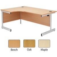 Jemini 1600mm Left-Hand Cantilever Radial Desk Maple