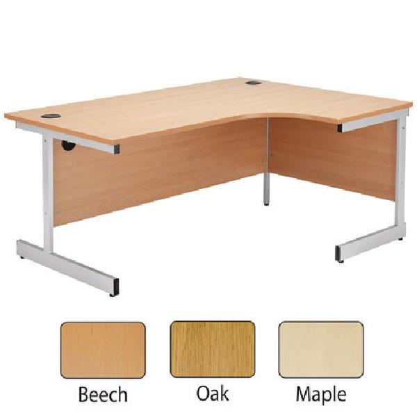 Jemini 1600mm Right-Hand Cantilever Radial Desk Oak