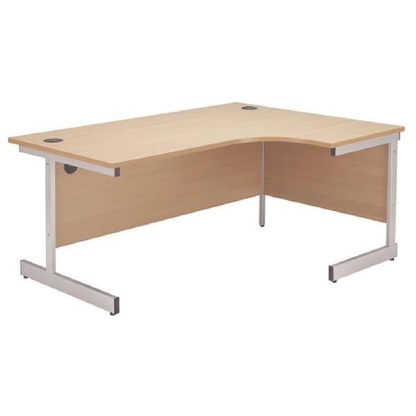Jemini 1800mm Right-Hand Cantilever Radial Desk Beech