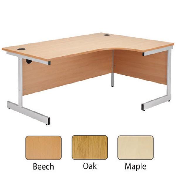 Jemini 1800mm Right-Hand Cantilever Radial Desk Oak
