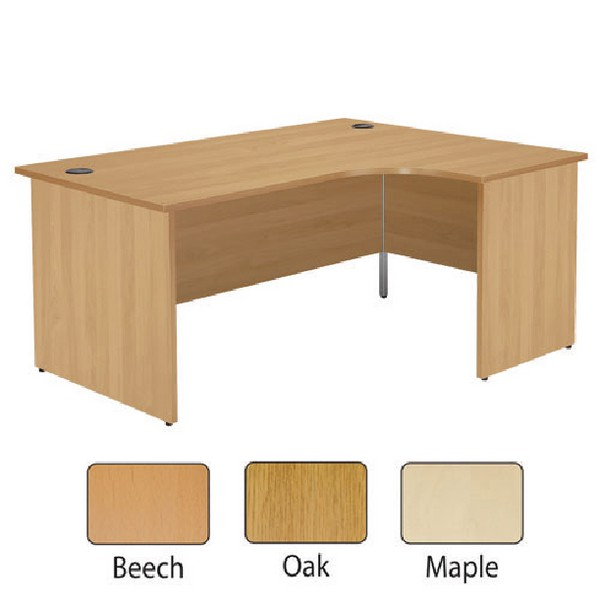 Jemini 1200mm Right-Hand Panel End Radial Desk Beech