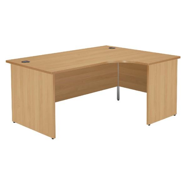 Jemini 1600mm Left-Hand Panel End Radial Desk Oak