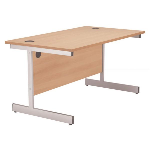 Jemini 1200mm Cantilever Rectangular Desk Beech