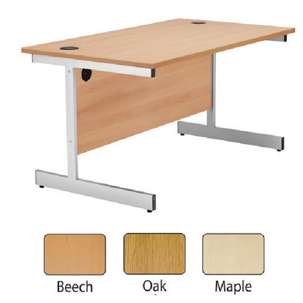 Jemini 1600mm Cantilever Rectangular Desk Maple