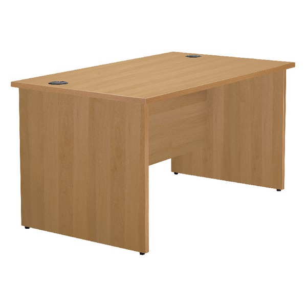Jemini 1600mm Panel End Rectangular Desk Oak