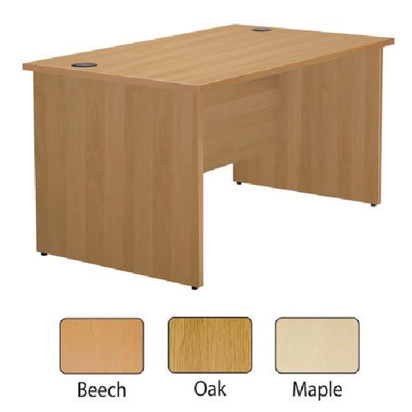 Jemini 1600mm Panel End Rectangular Desk Maple