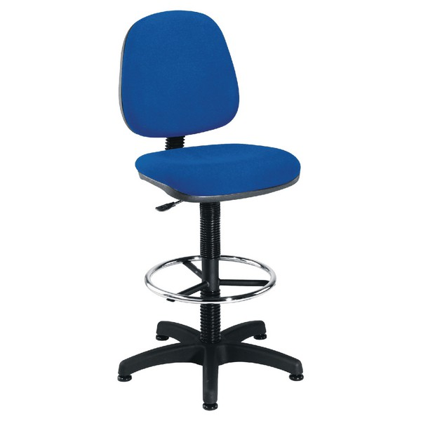 Jemini Medium Back Draughtsman Chair Blue