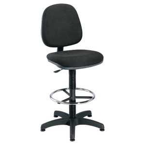 Jemini Medium Back Draughtsman Chair Charcoal KF838253