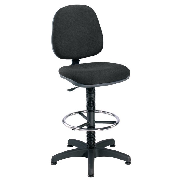 Jemini Medium Back Draughtsman Chair Charcoal