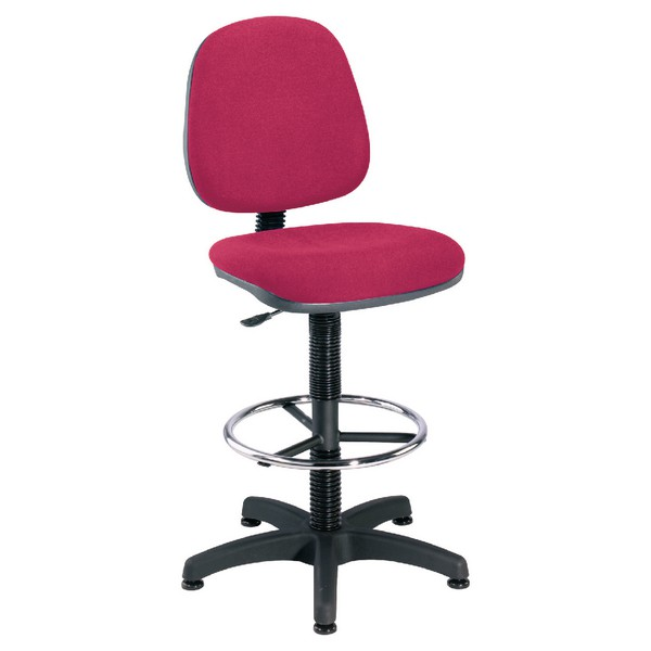 Jemini Medium Back Draughtsman Chair Claret