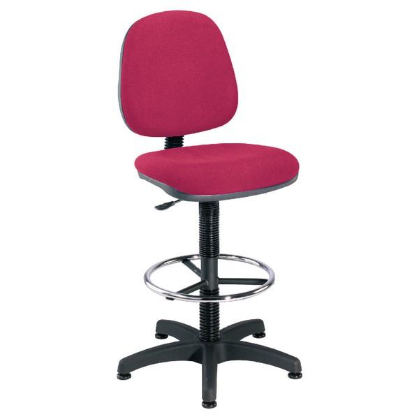 Jemini Medium Back Draughtsman Chair Claret
