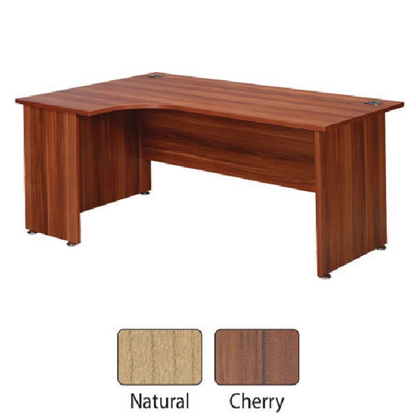 Avior 1800mm Left Hand Radial Desk Cherry