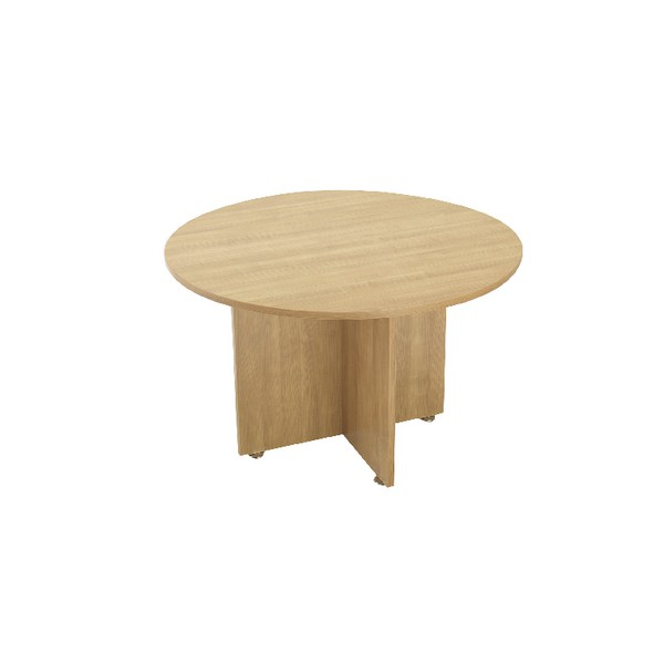 Avior 1200mm Round Meeting Table Natural