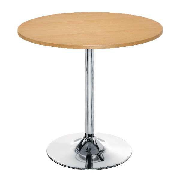 Arista Small Bistro Trumpet Table Beech