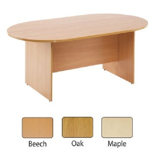 Arista 2400mm Boardroom Table Beech KF838283
