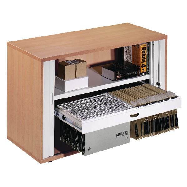 Arista Desk-High Side Tambour Beech