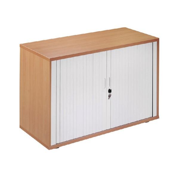 Arista Desk-High Side Tambour Oak