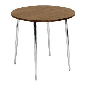 Arista Round Bistro Table Walnut/Chrome KF838316