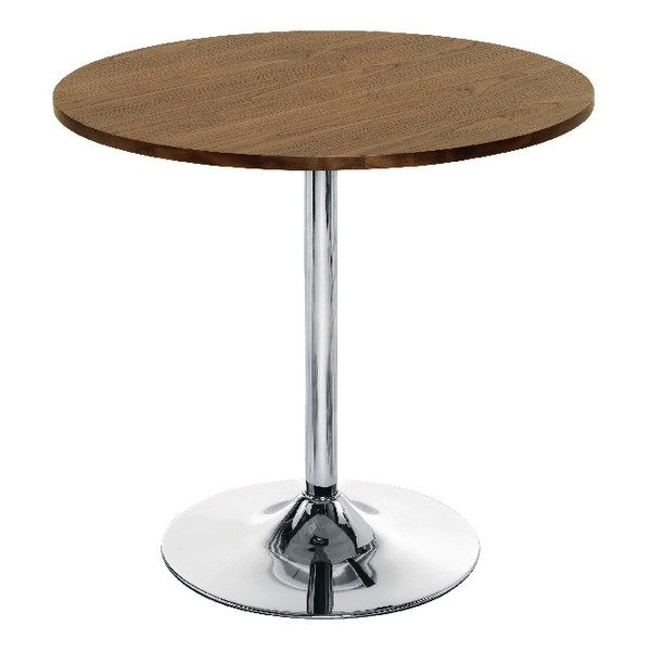 Arista Small Bistro Trumpet Table Walnut/Chrome