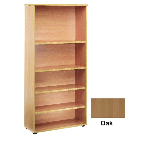 Jemini 2000mm Bookcase 4 Shelf Oak