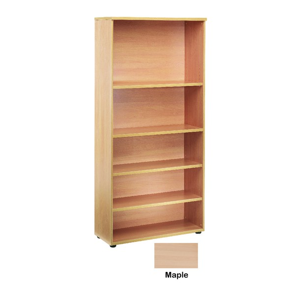 Jemini 1800mm Bookcase 4 Shelf Maple