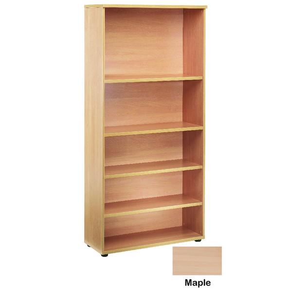 Jemini 2000mm Bookcase 4 Shelf Maple