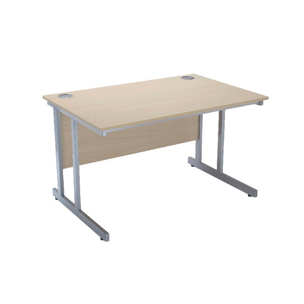 Jemini Intro 1200mm Rectangular Cantilever Desk Warm Maple