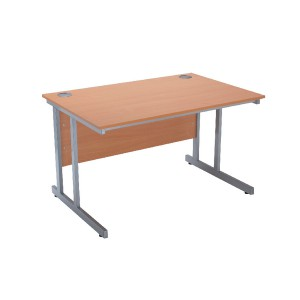Jemini Intro 1500mm Rectangular Cantilever Desk Bavarian Beech KF838517