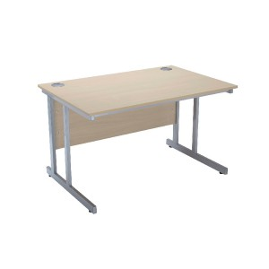 Jemini Intro 1500mm Rectangular Cantilever Desk Warm Maple KF838519