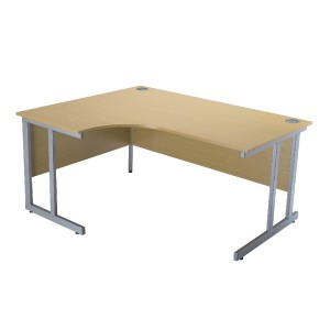 Jemini Intro 1200mm Radial Left Hand Cantilever Desk Ferrera Oak KF838521