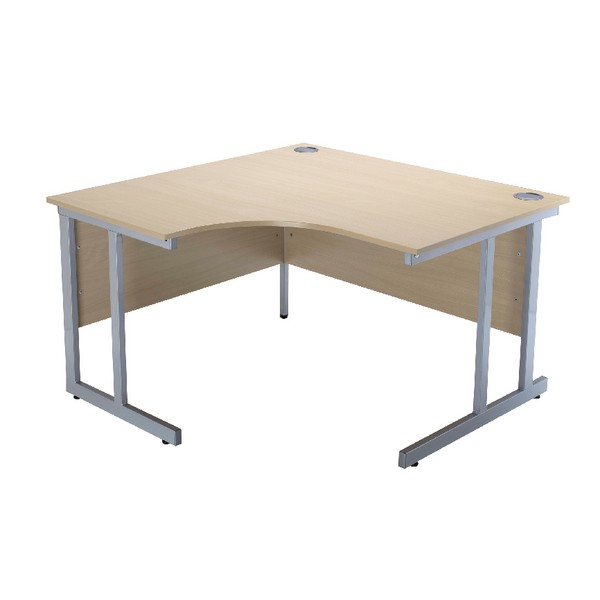 Jemini Intro 1200mm Radial Left Hand Cantilever Desk Warm Maple