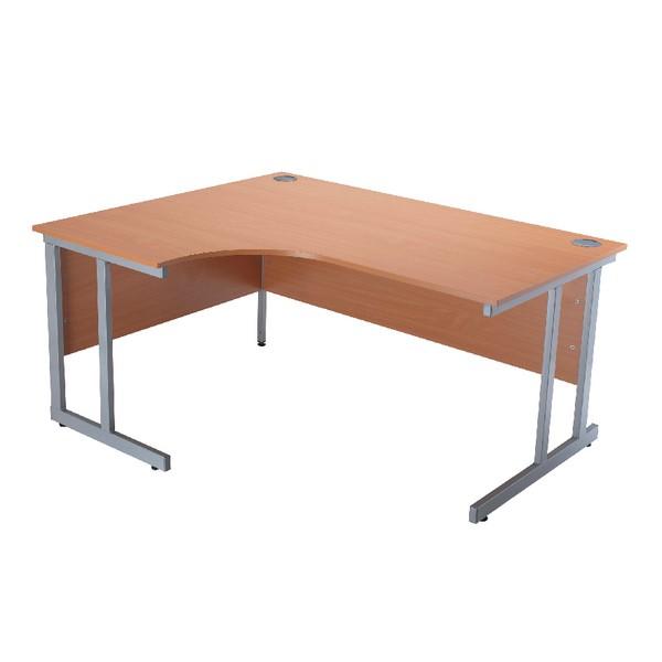 Jemini Intro 1500mm Radial Left Hand Cantilever Desk Bavarian Beech