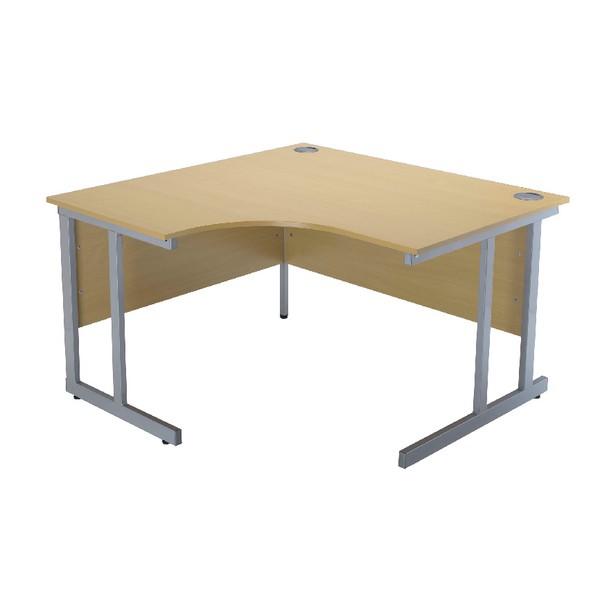 Jemini Intro 1500mm Radial Left Hand Cantilever Desk Oak