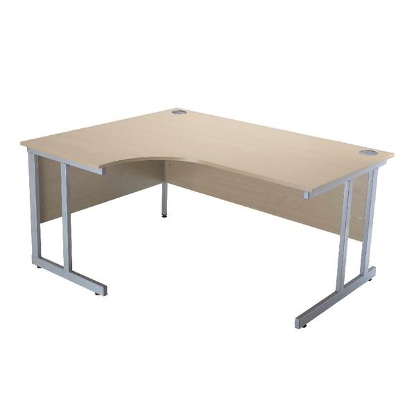 Jemini Intro 1500mm Radial Left Hand Cantilever Desk Maple