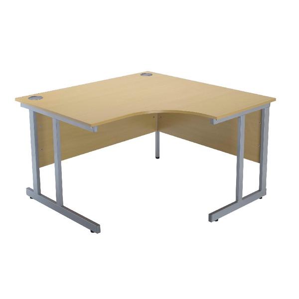 Jemini Intro 1200mm Radial Right Hand Cantilever Desk Ferrera Oak