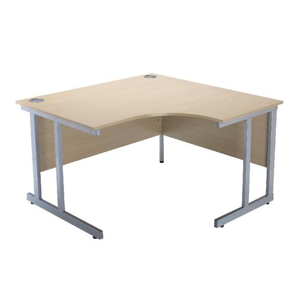 Jemini Intro 1200mm Radial Right Hand Cantilever Desk Warm Maple