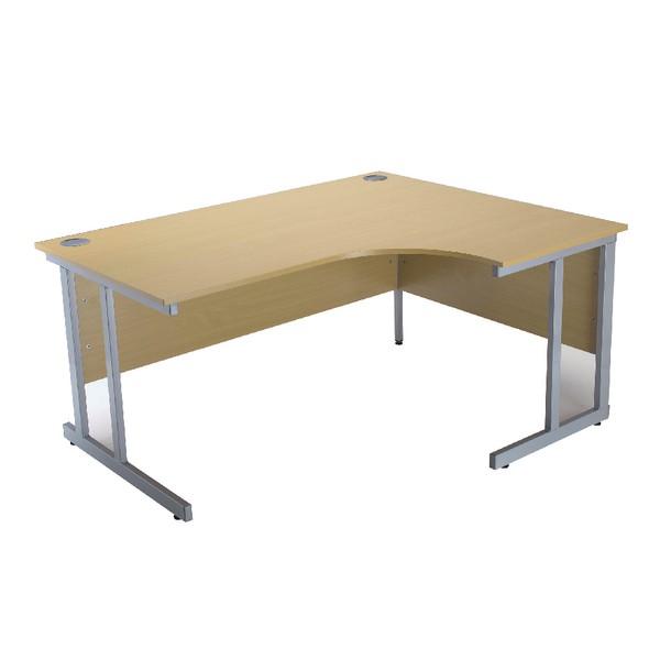 Jemini Intro 1500mm Radial Right Hand Cantilever Desk Ferrera Oak