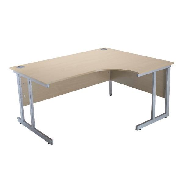 Jemini Intro 1500mm Radial Right Hand Cantilever Desk Warm Maple