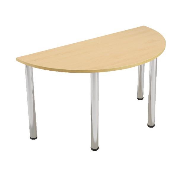 Jemini Semi-Circular Meeting Room Table Folding Leg Beech