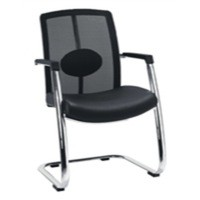 Avior Executive Mesh Back Visitor Chair Black