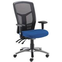 Avior 24 Hour High Back Mesh Operator Chair Blue