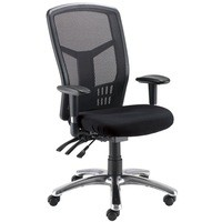 Avior 24 Hour High Back Mesh Operator Chair Black